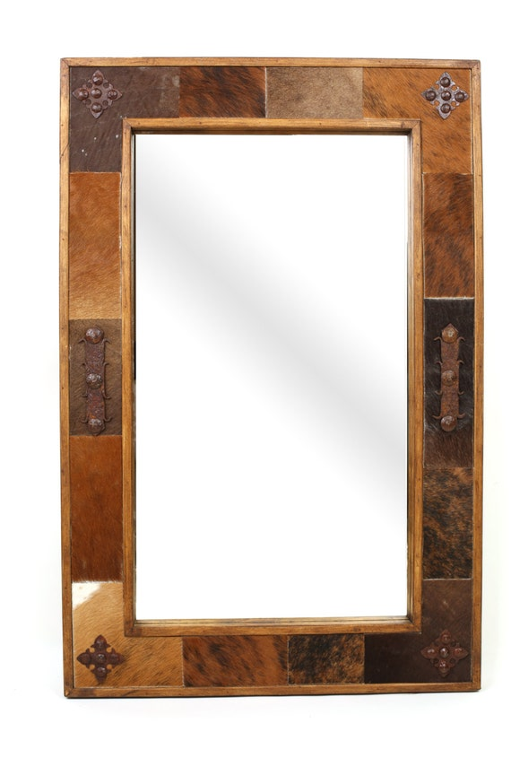 western bathroom mirrors cowhide medallion 15039