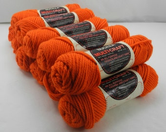 Bucilla Orange Multi-Craft Bulky Acrylic Yarn - 11 Skeins
