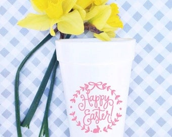 Happy Easter Wreath - Easter Cups (Qty 12)
