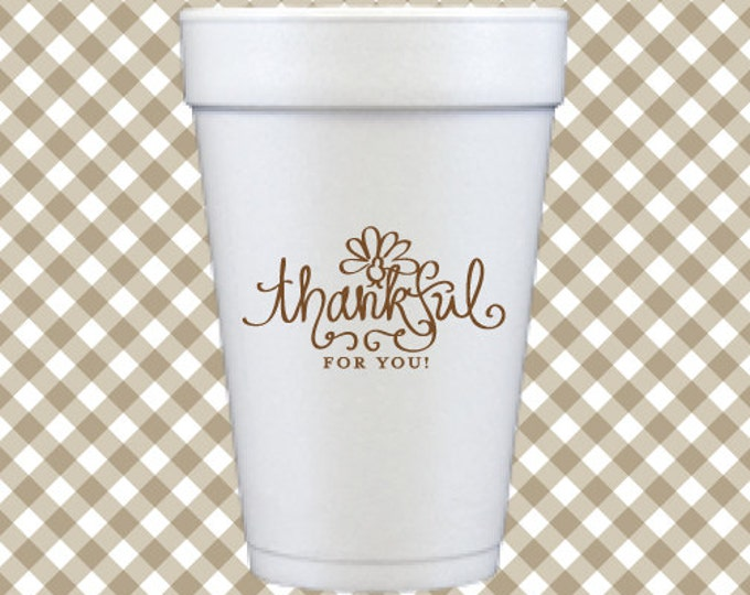Thanksgiving Cups  - Thankful for You