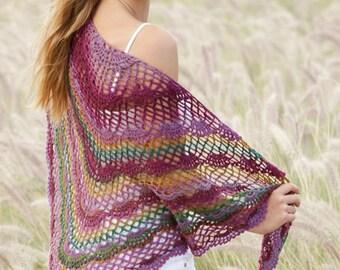 Summer shawl, spring shawl, crochet shawl, 100% hand made, summer wrap, crochet wrap.