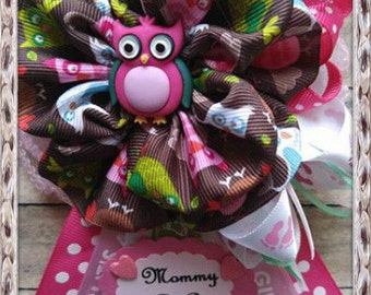 """Owl Theme Baby Shower Mommy to Be Corsage.  """"It's a Girl"""" Baby Shower Corsage, Baby Shower Mommy to Be Corsage"""