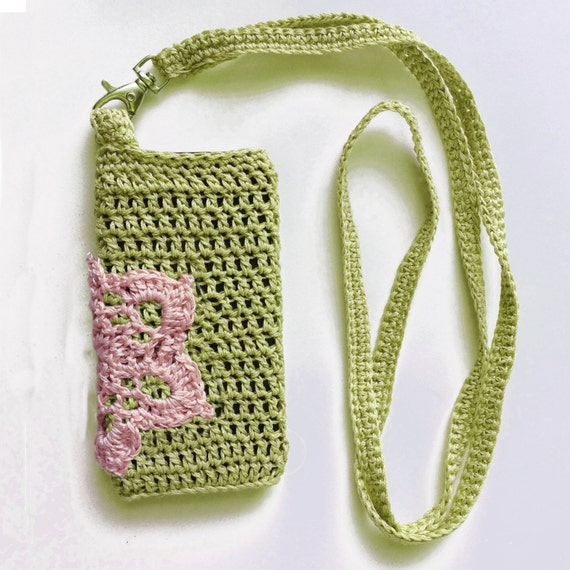 DIY crochet knitted cell phone cozy, Cell phone holder ...