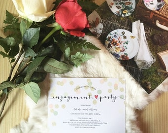 Engagement Party - DIY Printable Invitation, Print at Home, Invite, Fun, and cute