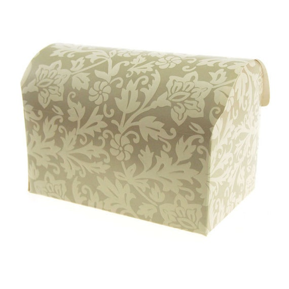 Damask Wedding Favor Boxes : Damask embossed favor boxes inch piece jewelry box