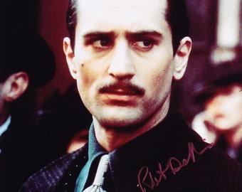 8x10 Authentic The Godfather Robert De Niro Signed Autographed Photo, with COA Robert Deniro, Mob, Mafia, Corleone, Coppola, Gangster