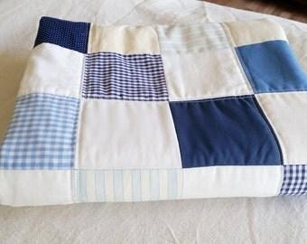 Checkered Blue Crib Quilt