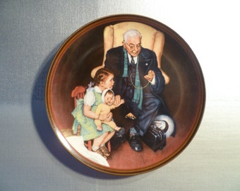 Norman Rockwell Plate, Vintage 1988, Tender Loving Care, Knowles China