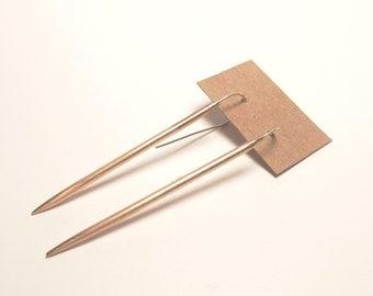 Bronze Hanging Spear Earrings
