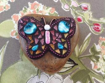 Mosaic Butterfly Rock