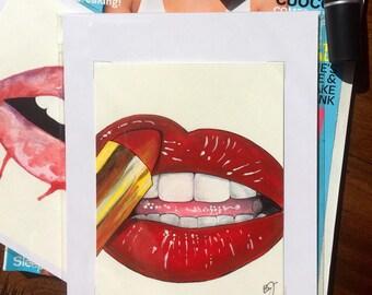 Lips and Lipstick
