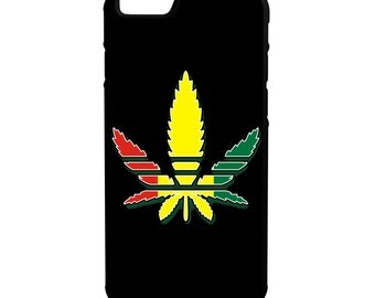 Multi Color Weed Leaf iPhone Galaxy Note LG HTC Hybrid Rubber Protective Case