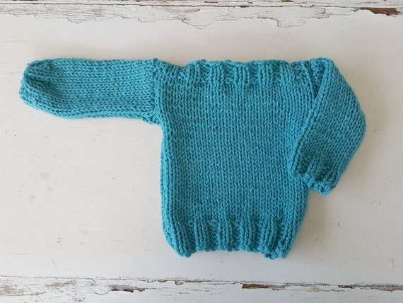 Easy Knitting Pattern For Baby Jersey : Easy baby sweater pattern newborn knitting