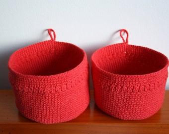 Two Crochet Basket
