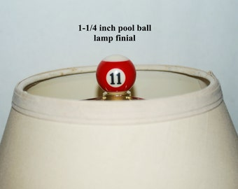 Handcrafted Pool Ball Lamp Finial