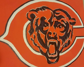 Chicago Bears Wall Art chicago bears art | etsy