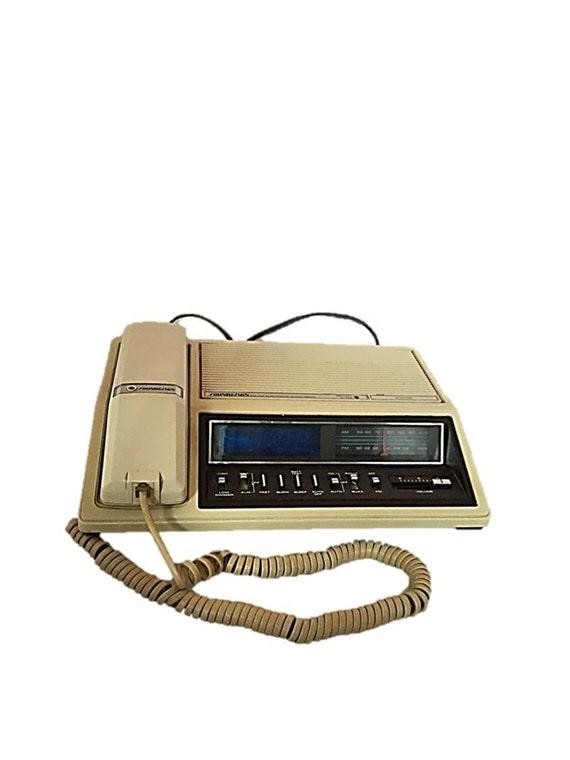 vintage soundesign telephone radio alarm clock model 7560a. Black Bedroom Furniture Sets. Home Design Ideas