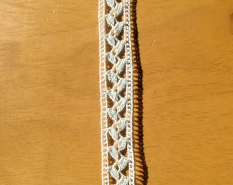 Scandinavia /swedish very old hand-crocheted lace in cotton , from the late 1800s