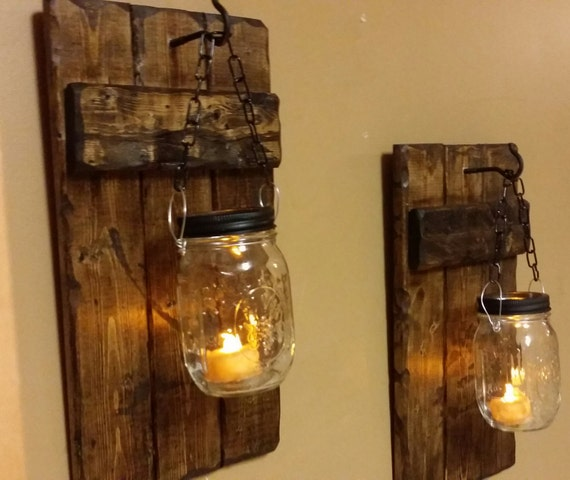 Hanging Candle Holders Rustic Home Decor sconce candle