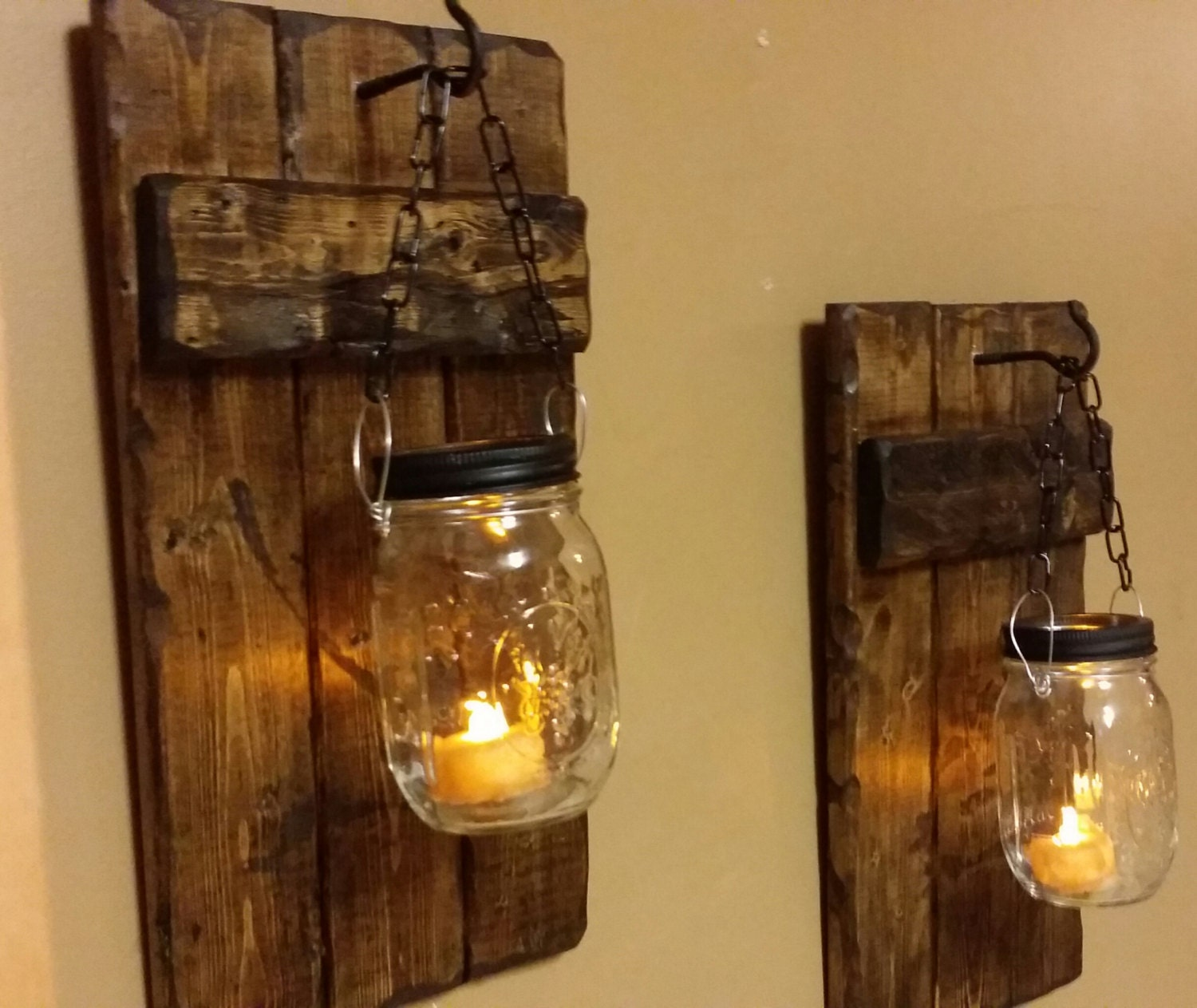 Hanging candle holders rustic home decor sconce candle Home interior sconces
