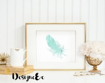 Foil Print - Feather Foil