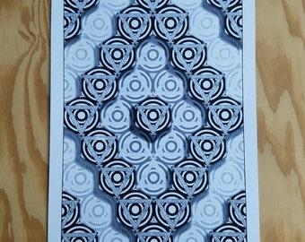 Geometric pattern print