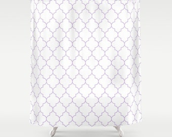 Shower Curtain - Lavender Shower Curtain - Quatrefoil - Dorm Decor - Teen Shower Curtain - Girls Shower Curtain - Purple Shower Curtain