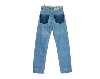 80s vintage high waist denim / custom jeans pants