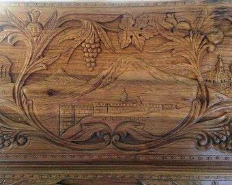 Wooden Carved Handmade Backgammon Board Set Table Game Nardi