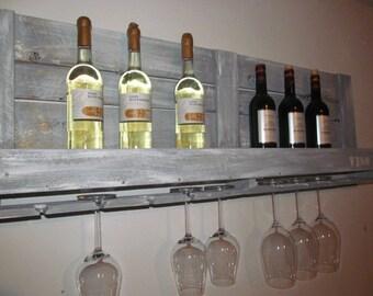 "Industrial pallet ""VINO"" wine rack range furniture"