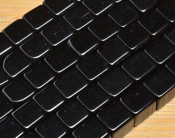 Black Glass  6mm  Cubes