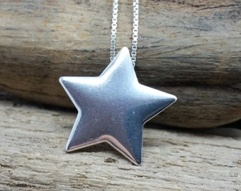 SALE! Star Necklace, star jewellery, sterling silver jewellery, silver star, handmade jewelry, night sky necklace, silver necklace, star