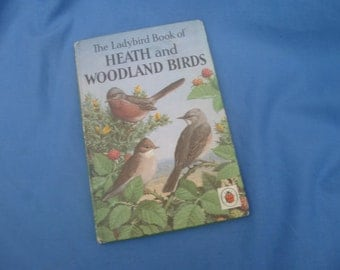 Vintage Ladybird Book of Heath and Woodland Birds - Series 536 1968 2/6 1st Edition Matt Covers
