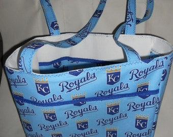 Kansas City Royals Tote Bag - Handmade Fully Lined w/Pockets