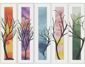 Five Trees - Counted Cross Stitch Pattern (X-Stitch PDF)