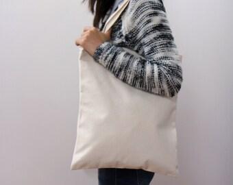 """14"""" * 16"""" Plain unbleached Cotton canvas tote bag, Market bag, Fitness bag, Eco friendly cotton fabric Style#103"""