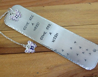 Some See A Wish Stamped Aluminum Bookmark