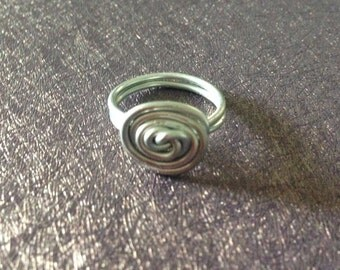 Simple Swirl Wire Wrapped Ring