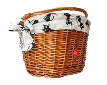Classic Wicker Bike Basket with liner Cats, Bike Belle