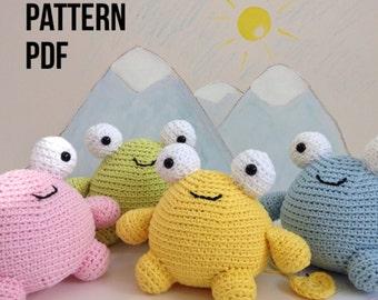 Amigurumi crochet pattern, digital PDF, cuddle monster soft toy pattern