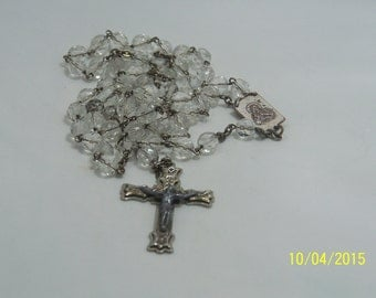 Goregous Vintage Glass Bead Rosary marked ROMA