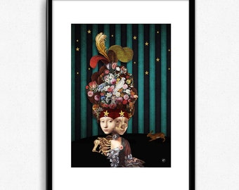 THE SIAMOISES - Illustration Digital collage