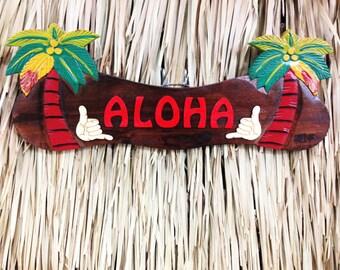 Aloha wood sign