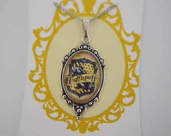 Harry Potter (inspired), House Crest, Hufflepuff necklace cameo