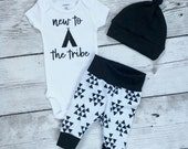 Baby boy coming home outfit, New to the tribe, new to the tribe outfit, Newborn boys going home outfit, Coming home outfit, tribe onesie, ba