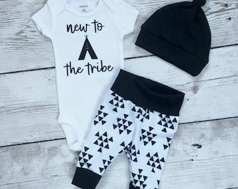 New to the tribe, newborn new to the tribe , Newborn  going home outfit, Coming home outfit, tribe theme