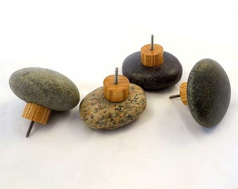 Beach Stone Towel Hooks - Screw directly into wall