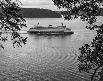 Puget Sound Ferry #1, 2015: A Black and White Photograph 12x15