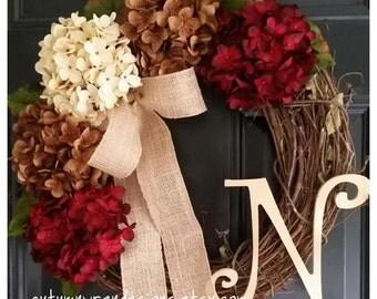 FALL Door Decor, Fall Wreath for Door, Autumn Colors Wreath, Front Door Wreath