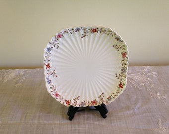 Copeland Spode Wicker Dale Square Luncheon Plate